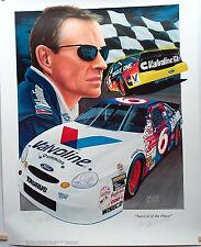 AUTOGRAPHED NASCAR MARK MARTIN #6 VALVOLINE FINE ART PRINT #34/400 ROUSH FENWAY