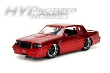 JADA 1:24 N/B BIGTIME MUSCLE 1987 BUICK GRAND NATIONAL DIE-CAST CANDY RED 30341