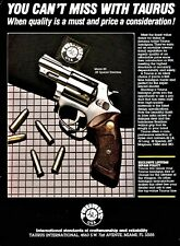1988 Taurus Model 88 ,38 Special Stainless Revolver Print Ad Gun Advertising