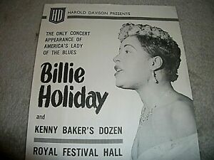 BILLIE HOLIDAY ORIGINAL HANDBILL - FLYER. 1958. GENUINE NOT A REPRINT OR COPY