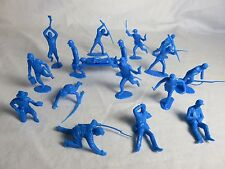 MARX Recast Union 2nd series Toy Soldiers 18 figures - 54MM - Blue