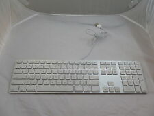 APPLE A1243 MB110LL/A WIRED ALUMINUM KEYBOARD W/ NUMERIC KEYPAD & TWO USB PORTS