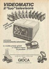 X4645 Videomatic il tuo televisore - GIOCA - Pubblicità 1975 - Advertising
