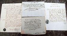 1799 BORELLO FRAZIONE DI CASTEL BOLOGNESE LOTTO DI DOCUMENTI DI MATRIMONIO