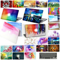 """Hard Case Cover for Apple Mac MacBook Air 13"""" 11 12 15 Pro + Rubber Keypad cover"""
