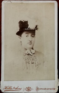 Hellis & Sons, London CDV Photograph of a Woman in a Hat