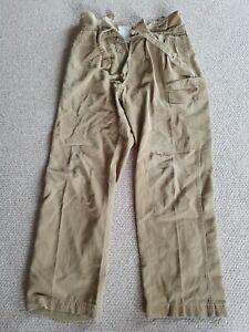 British Military Army 1950s Pattern Drill Khaki Size 1 Trousers