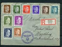 Germany 1942 Registered Cover Winniza Ukraine to Magdeburd Overprint WWII g1410s