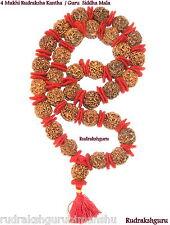4 Mukhi Rudraksh Kantha / Brahma Kantha  -33 beads- Nepal