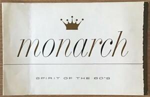 FORD MONARCH LF Canadian Sales Brochure 1960 #MO-92082 LUCERNE Richelieu SCEPTRE