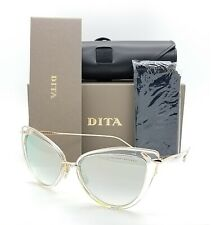 NEW DITA sunglasses Heartbreaker 22027-E Gold Clear Silver Grey Mirror $500