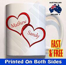 Personalised Love Heart #4 Coffee Mug Cup Valentines Christmas Birthday Gift