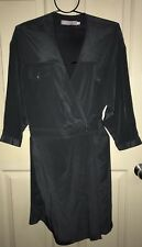 Laurence Pasquier Grey Silk Wrap Style Dress Size 12