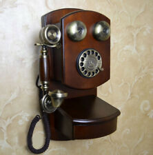 E140 Antique Drawer-Equipped Home Decoration Wall Mounting Dial Phone K