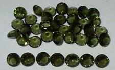 8mm Faceted TOP QUALITY Natural Czechoslovakia Moldavite Round Cut