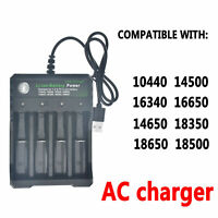 Rechargeable Battery Charger 18650 26650 18350 Li-ion for toy BLACK