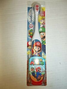Spinbrush Kids Super Mario Electric Powered Toothbrush Batteries Included Sealed