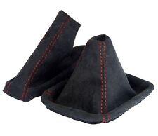 Schaltsack + Handbremsmanschette passend für BMW E46 3er aus ALCANTARA Faden ROT