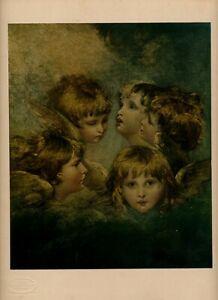 Rare Reynolds Old Vintage HEADS ANGELS Eliotipia Roberto Hoesch Art Print Milano