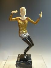 COLD PAINTED ART DECO INSPIRED LADY DANCER BRONZE