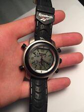 Awesome large men's Reebok digital sports chronograph watch. 100m water resist.