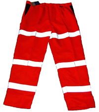 Naranja Alta Viz-Visibilidad Cargo Pantalones de trabajo 42R polivinílico-algodón St