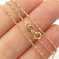 """1/20 14K Gold Filled Vintage Old Stock Round Wheat Chain Necklace 18"""""""