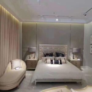 Bedroom Bed 2x Night Table Lounger Bedroom Set Design Modern Luxury 4tlg