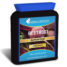 Herbalbiotech Organic barbabietola 100 Capsule-Super Alimento 100% puro nessun Riempitivi