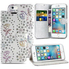 FOR APPLE IPHONE 5 SE 6 7 WALLET BOOK FLIP STAND SAFE CARD SLOT PHONE CASE COVER