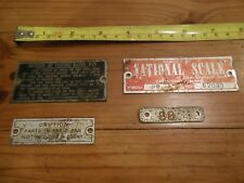 The National Computing and Weighing Machine Scale BADGEs, 1917