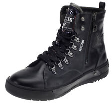 Neu Mustang Damen Stiefeletten Gefüttert Boots Booty Stiefel Winterschuhe navy