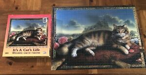 SunsOut IT'S A CAT'S LIFE Jigsaw Puzzle 1000 Pc Art by Kinuko Y. Craft COMPLETE!