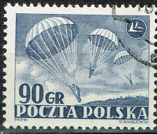 Poland Airforce Paratroopers stamp 1964