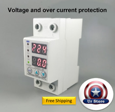 Under Over Voltage Current Protector LCD Relay 63A 230V 50Hz Automatic Recovery