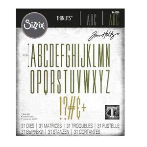 SIZZIX® THINLITS DIE SET STRETCH UPPER ALPHA by TIM HOLTZ™ RRP £20.99 NOW £18.99