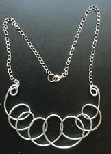 Wow! Fizzona Designer Chunky Silver Twisted Wire Statement Necklace