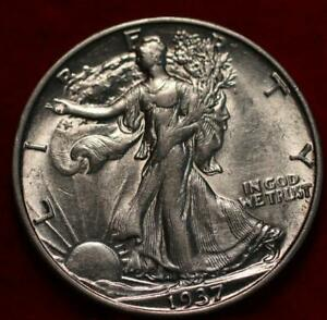 Uncirculated 1937-S San Francisco Mint Silver Walking Liberty Half