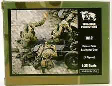 Verlinden 1812 |  German Paras  Gun/Mortar Crew (3 Fig.) _ Resin | 1:35 -NEU-