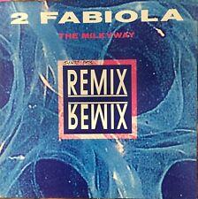 "2 FABIOLA The Milkyway Remixes 12"" Single VG+ Vinyl 1992 Belgium Techno"