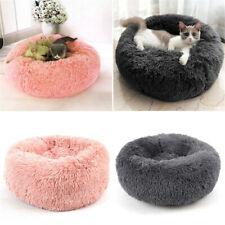 New Fluffy Fur Donut Cuddler Cat Bed Warm Plush Dog Puppy Mat Pets Comfortably
