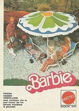X1029 BARBIE - Ombrellone - Piscina - Mattel - Pubblicità 1976 - Advertising