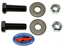 64-81 GM Steering Idler Arm To Frame Correct Grade 8 Bolts Washers & Nuts 6pc VA