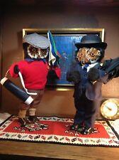 VINTAGE ABERCROMBIE & FITCH LONDON 2 OWLS GOLFER BUSINESS STOCKBROKER