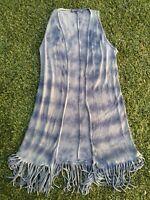 T Party Tie Dye Fringe Sleeveless Kimono Size S