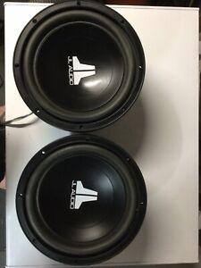 JL Audio 10w3v2-D4 pair subwoofers   Classic!