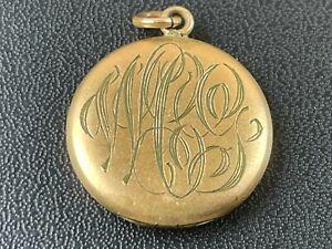 Antique Locket, Monogram Initials WCG Men's Jewelry Keepsake