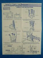 Vintage 1980's ACTION FORCE - CHECK POINT INSTRUCTIONS Hasbro G.I Joe Blueprint