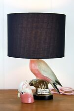 ceramic retro Galah bird vintage table lamp original bespoke one of a kind