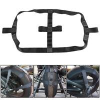 Universal Motorcycle Rear Wheel Handlebar Transport Bar Tie-Down Strap Motorbike